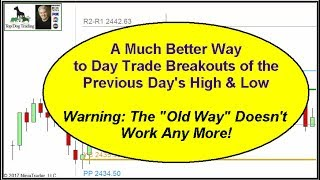 A New Day Trading Setup that Works in TODAY'S Markets