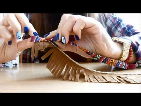Tutorial - Franjas para Botas   DIY - Fringe for Boots