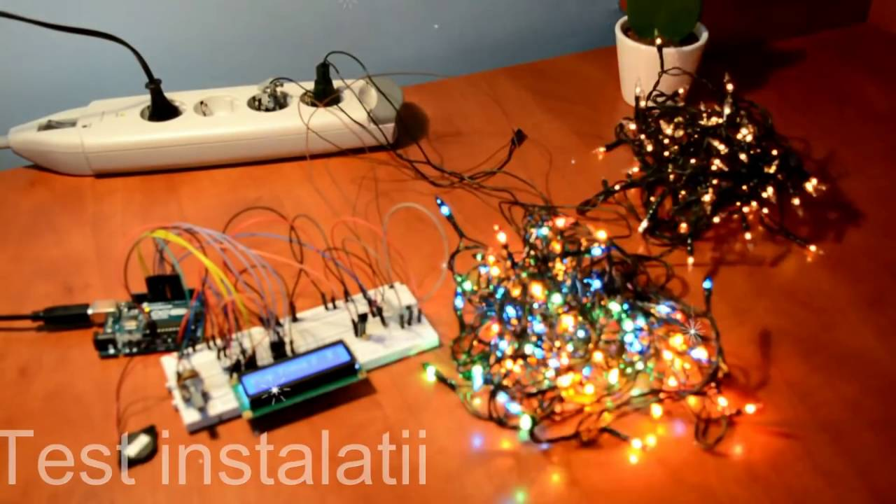 Arduino Christmas Lights to Music Setup - YouTube