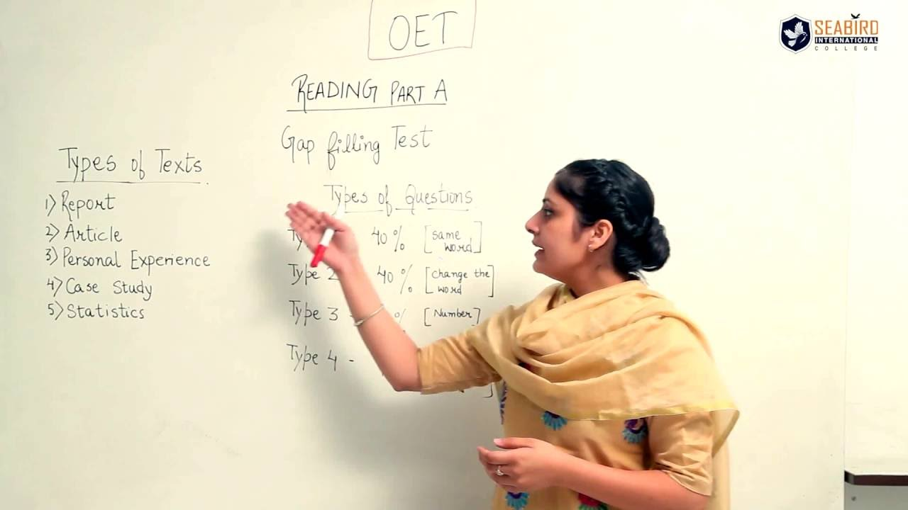 OET Exam Preparation | OET Online | Reading Module - Part A