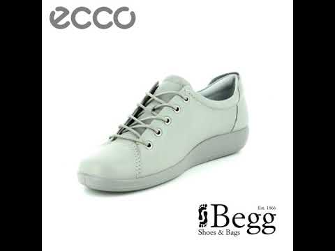 d78ea27c ECCO Soft 2.0 206503-01539 Light grey lacing shoes