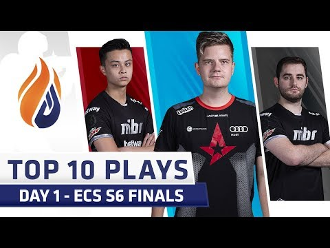 Top 10 Plays - DAY 1 - ECS S6 Finals - Feat. dupreeh, Fallen, Stewie2k!