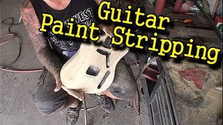 How To Strip Paint Off A Solid Body Electric Guitar