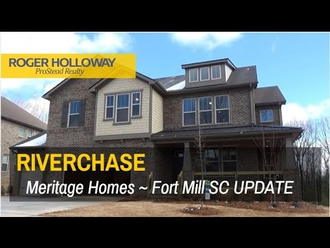 Riverchase Subdivision on the Catawba River in Fort Mill SC - Meritage Homes