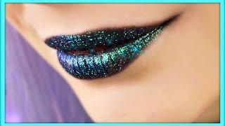 Голографические губы / макияж