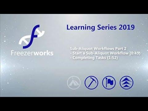 Sub Aliquot Workflows Pt  2