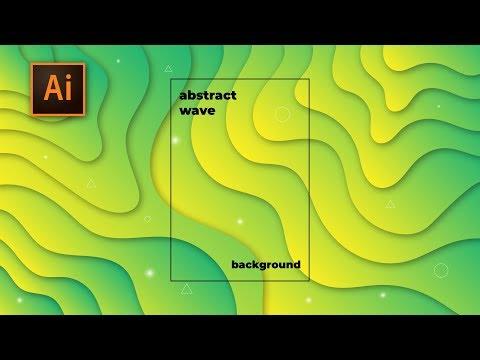 Tutorial Cara Membuat Modern Abstract Wave Paper Cut Fluid Liquid Background Adobe Illustrator CC 2 thumbnail