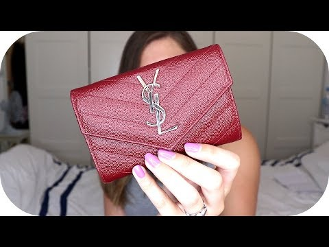 b913833b78 Saint Laurent Small Envelope Wallet / YSL Textured Leather