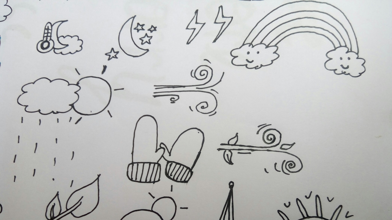 How To Draw Cute And Easy Weather Doodles Simple Easy Doodle Weather