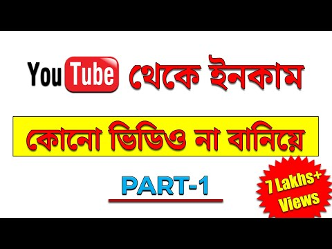 How To Make Money On Youtube Without Making Videos Bangla 2020