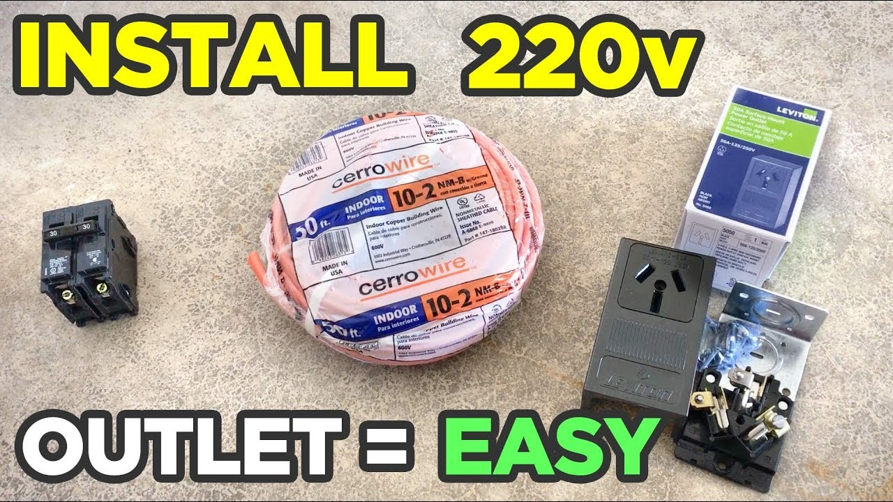 hight resolution of how to install 220v outlet in garage the easy way run from basement