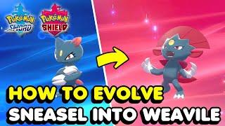 How To Evolve Sneąsel Into Weavile In Pokemon Sword & Shield