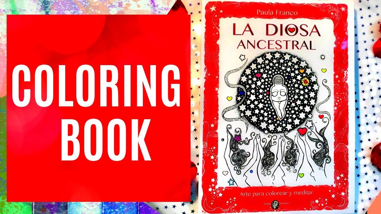 """Coloring Book """"La Diosa Ancestral"""" es un libro para colorear las Antiguas Madres por Paula Franco"""