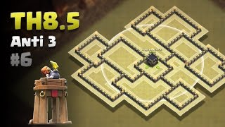 Clash of Clans ⚫ TH8.5 Anti 3 Star War Base #6 ⚫ No CC Lure ⚫ No Xbow/6AT/4WT ⚫ *BOMB TOWER UPDATE*