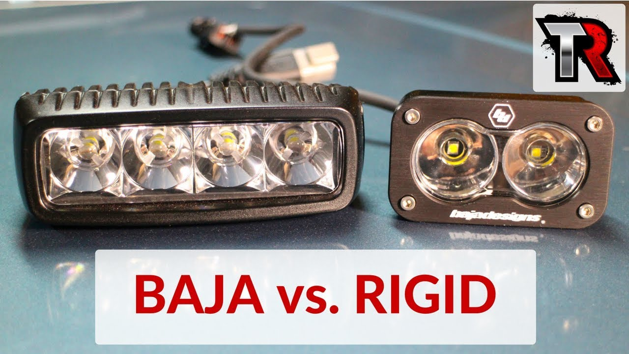 Baja Designs S2 Vs Rigid Industries Sr Q Youtube