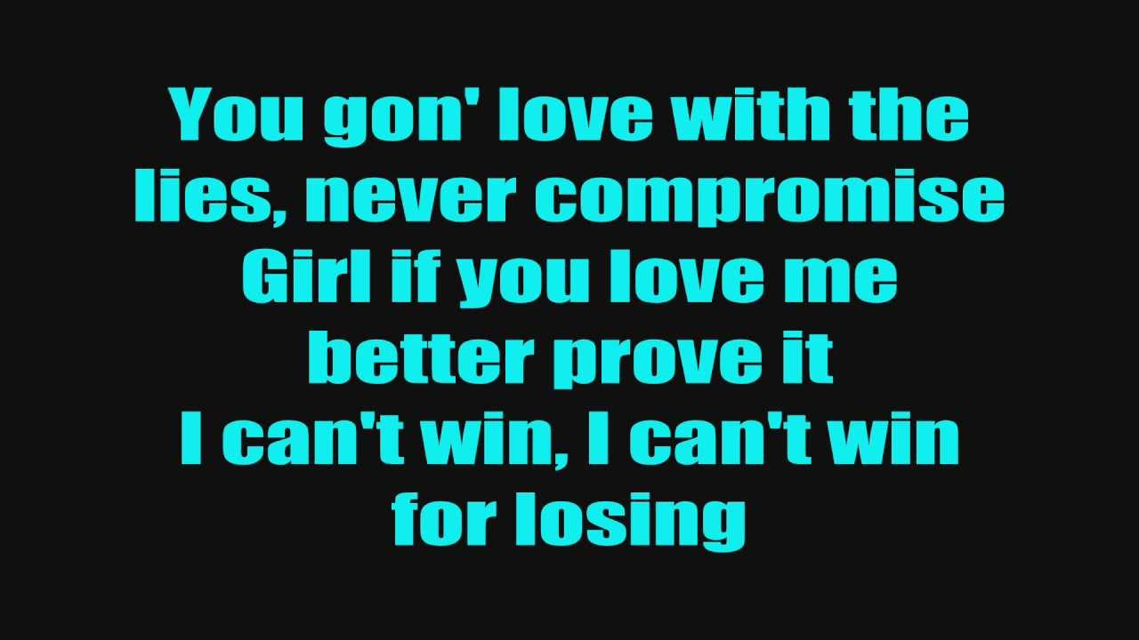 Chris Brown - I Can't Win (Lyrics On Screen)