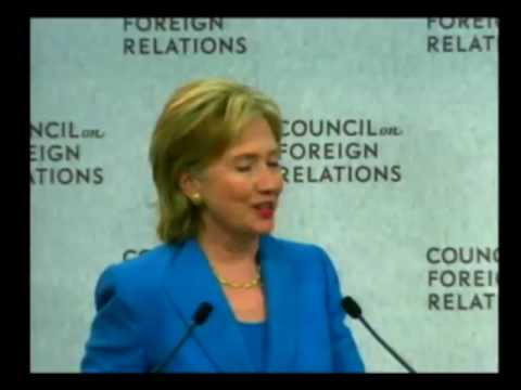 Hillary Clinton admits the CFR gives the Orders