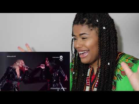 Christina Aguilera ft. Demi Lovato - Fall in Line Live // REACTION!!!