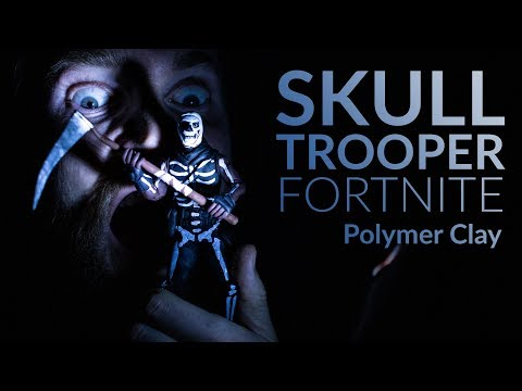 Creating Skull Trooper On Halloween In Old Factory (Fortnite Battle Royale) – Polymer Clay Tutorial