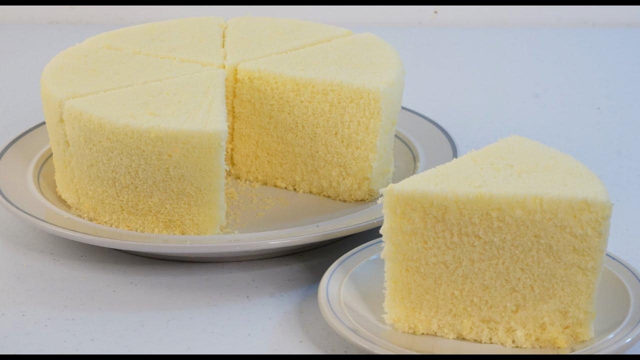 Basic Vanilla Chiffon Cake Pillowy Soft And Fluffy Youtube