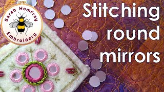 Shisha Stitch Mirror Work - EASY tutorial - round mirrors