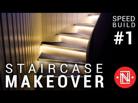 Stair Makeover with Accent Lighting (Speed Build #1)