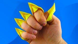 Как сделать из бумаги кошачьи когти. How to make a paper Cat's Claws