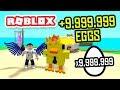 EARNING +9,999,999 EGGS in ROBLOX EGG FARM SIMULATOR