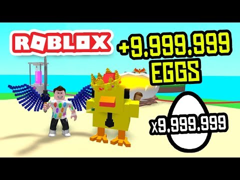 EARNING +9,999,999 EGGS In ROBLOX EGG FARM SIMULATOR