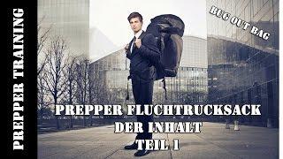 Prepper Fluchtrucksack Inhalt Teil 1 |Bug Out Bag|Survival Pack| German HD 1080p