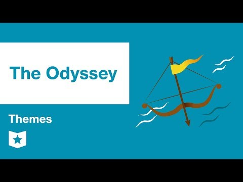 exploring the different themes in homers epic the odyssey The odyssey (/ ˈ ɒ d ə s i / greek: ὀδύσσεια odýsseia, pronounced [odýssejja] in classical attic) is one of two major ancient greek epic poems attributed to homer it is, in part, a sequel to the iliad , the other work ascribed to homer.