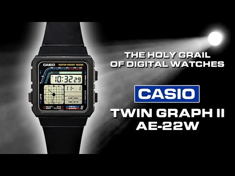 Casio Twin Graph II AE-22W - Check Out The Review Of This Ultra Rare, Retro Digital/analog Watch.