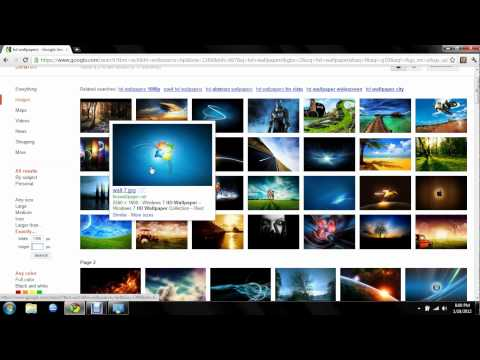 How to get HD Wallpapers for Windows 7 from Google!!!!