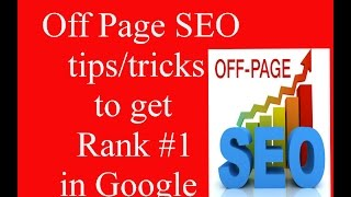 How to rank your new website in google #1 page using Off page SEO.