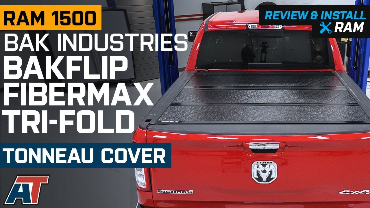 2019 Ram 1500 Bak Industries Bakflip Fibermax Tri Fold Tonneau Cover Review Install Youtube