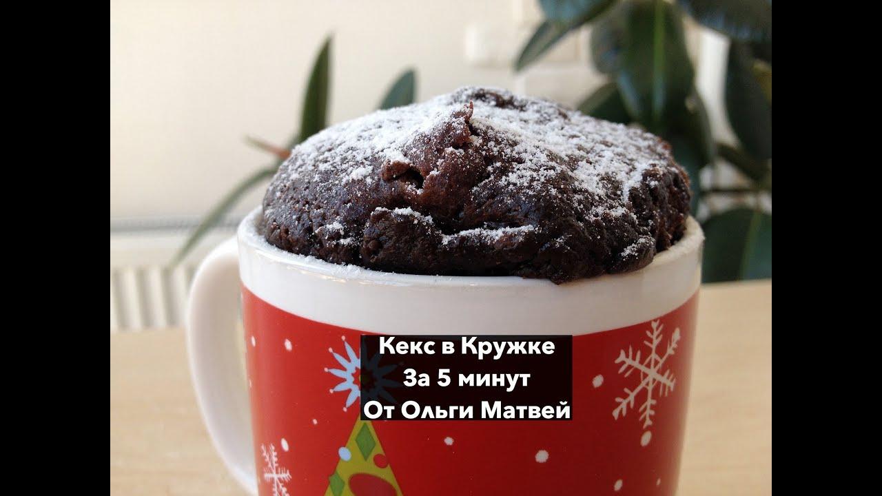 Кекс в кружке без молока: быстрый рецепт