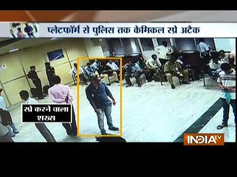 Mysterious Chemical Spray Attack Caught on CCTV at Central Railway Station