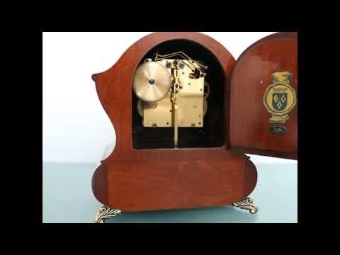 SOLD! WARMINK WUBA Clock DUTCH BIEDEMEIJER Mantel TOP! Vintage HIGH GLOSS 2 BELL Chime