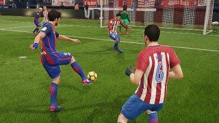 Barcelona vs Atletico Madrid | La Liga, Vicente Calderón (Febrero 26, 2017) | FIFA 17 Simulacion