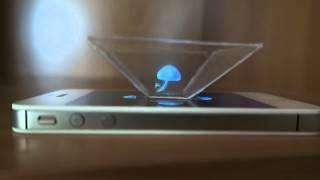 Как сделать 3D голограмму для смартфона / How to make a 3D hologram smartphone(В сегодняшнем видео я покажу вам как сделать своими руками в домашних условиях голографическую 3D пирамиду..., 2015-08-09T14:16:45.000Z)