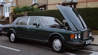 1991 BENTLEY TURBO R REVIEW - STARTING 6.75 V8 ENGINE & DRIVING!