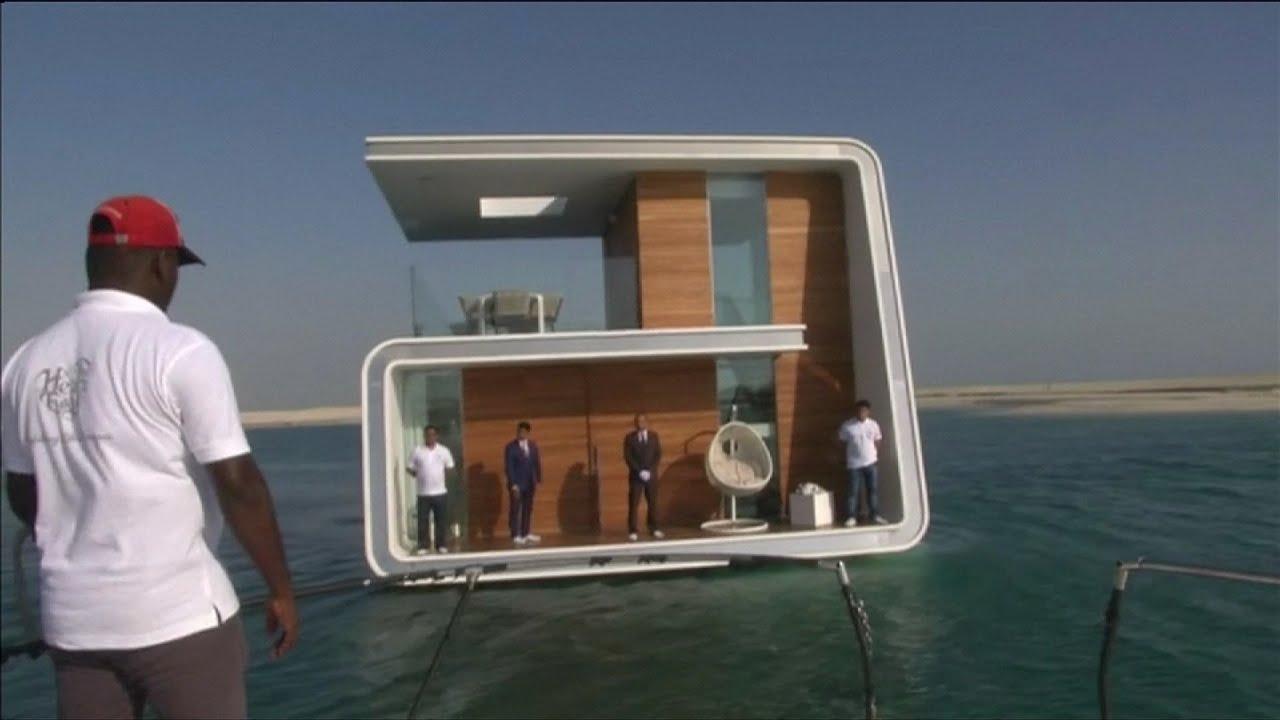 Make A House A Home Dubai Showcases Floating Seahorse Homes Youtube