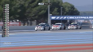 Peugeot 308 Racing Cup 2017. Race 2 Circuit Paul Ricard. Last Lap Battle for Win