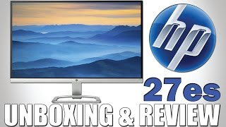 HP 27es Unboxing & Review