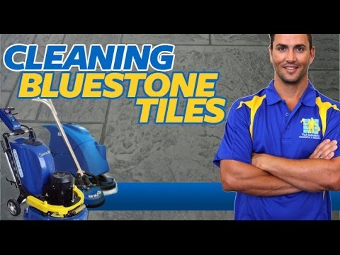 How To Clean Bluestone Tiles Youtube