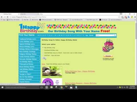 DOWNLOAD HAPPY BIRTHDAY SONG FREE(HINDI /ENGLISH)
