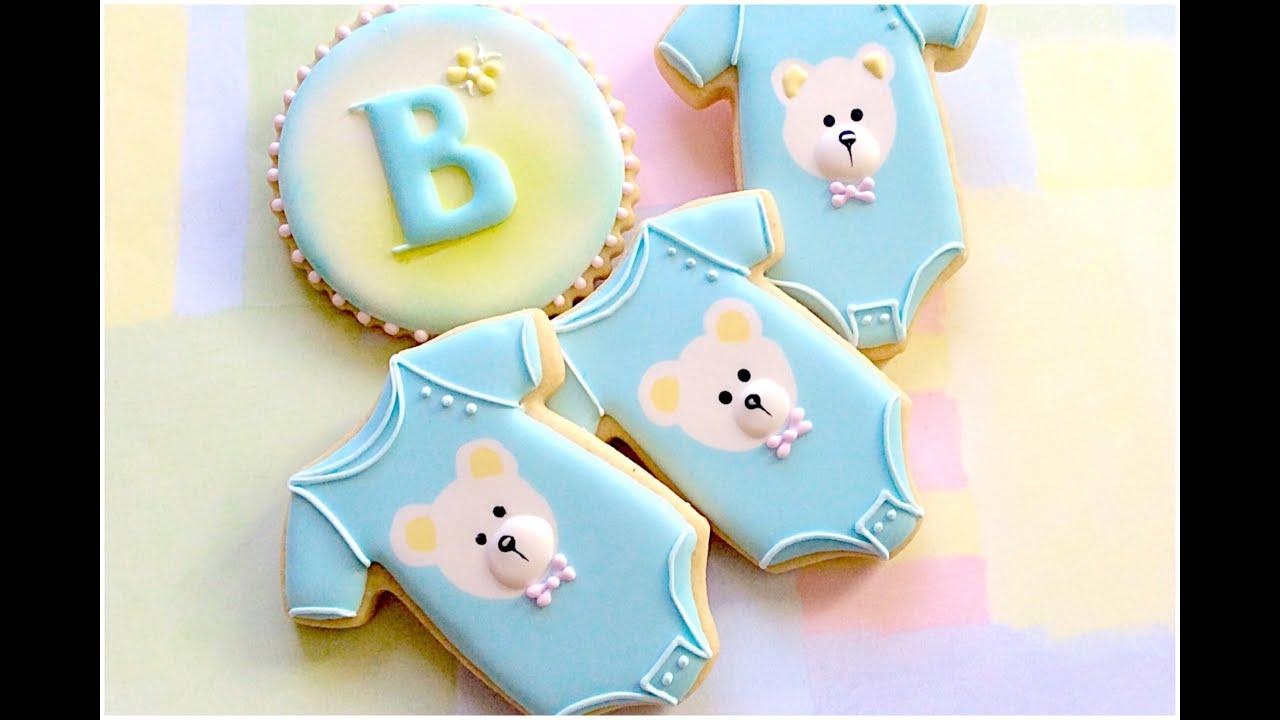 Baby onesie cookies Baby shower