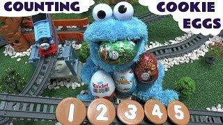 Thomas & Friends Surprise Eggs Sesame Street 123 Disney Planes Kinder Hot Wheels Cookie Monster