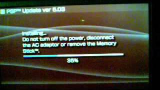 hack tutorial how to update psp 3000 to ofw 5.03 specifically for chick HEN R2 part 1