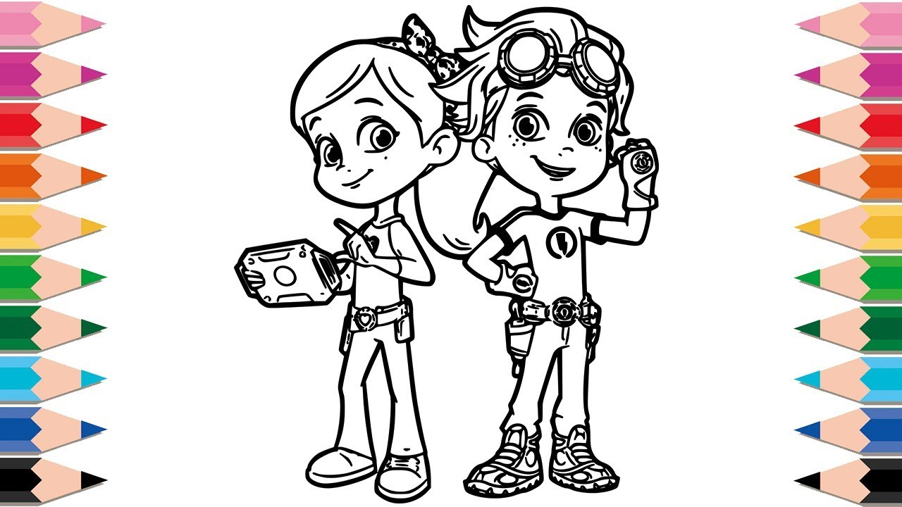 How to draw rusty rivets coloring pages for kids drawing for children to learn